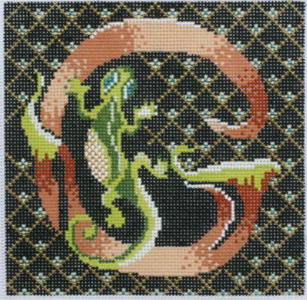 click here to view larger image of Letter G w/Gecko (hand painted canvases)