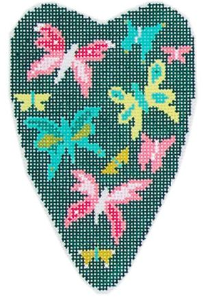 click here to view larger image of Butterfly Scissor Case (hand painted canvases)