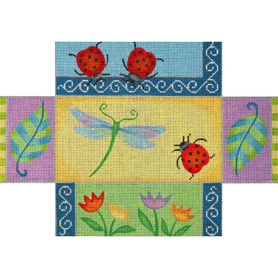 click here to view larger image of Dragonfly Patchwork Brick Cover (hand painted canvases)