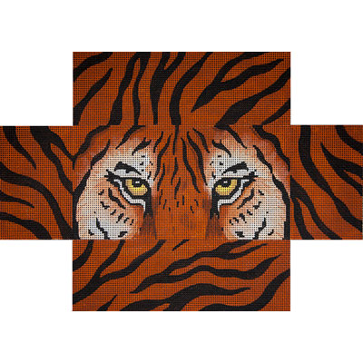 click here to view larger image of Tiger Eyes and Skin Brick Cover (hand painted canvases)
