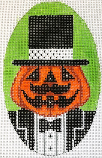 click here to view larger image of Mr Dapper Pumpkin (hand painted canvases)