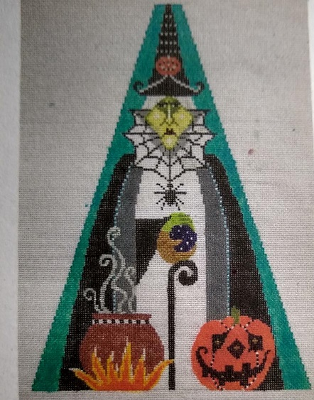 click here to view larger image of Wicked Witch Triangle  (hand painted canvases)