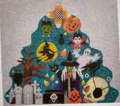 click here to view larger image of Halloween Night Tree (hand painted canvases)