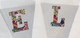 click here to view larger image of Alphabet 1500 Floral Series - 6in (hand painted canvases)