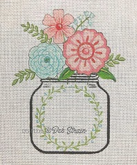 click here to view larger image of Mason Jar Floral (hand painted canvases)