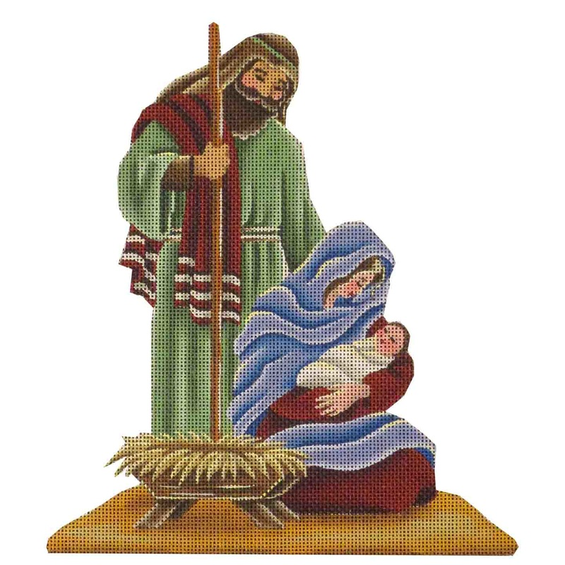 click here to view larger image of Nativity - Mary Joseph and Jesus (hand painted canvases)