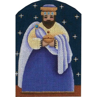click here to view larger image of Nativity - Dome Yellow Wise Man (hand painted canvases)