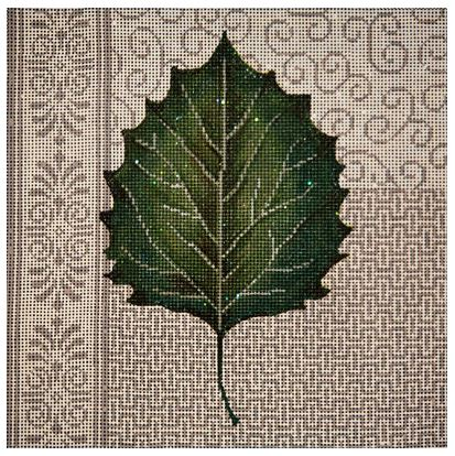 click here to view larger image of Aspen Leaf Patchwork   (hand painted canvases)