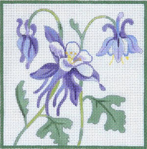 click here to view larger image of Blue Columbine II (hand painted canvases)