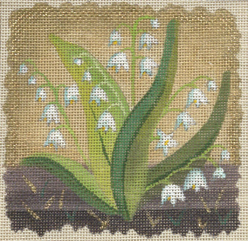 click here to view larger image of Ivory Woods Lily of the Valley (hand painted canvases)