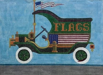 click here to view larger image of Flag Truck (hand painted canvases)