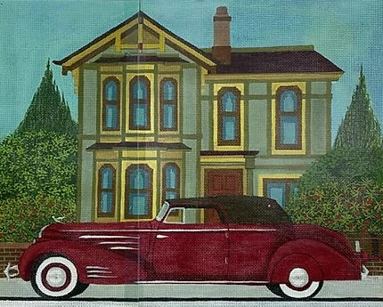 click here to view larger image of 1936 Cadillac Victoria V16 (hand painted canvases)