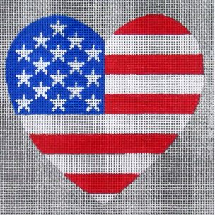 click here to view larger image of Old Glory Heart (hand painted canvases)