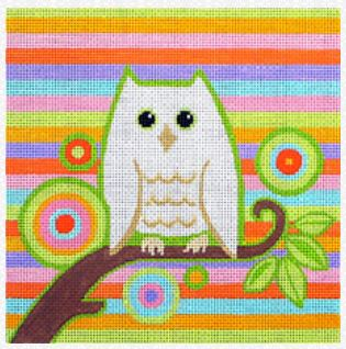 click here to view larger image of Owl Siesta (hand painted canvases)