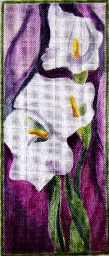 click here to view larger image of Calla Lilies (hand painted canvases)