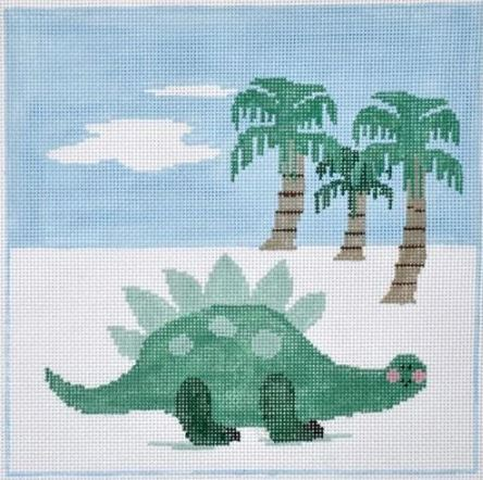 click here to view larger image of Dino Pillow (hand painted canvases)