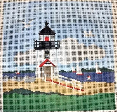 click here to view larger image of Brant Point Lighthouse (hand painted canvases)
