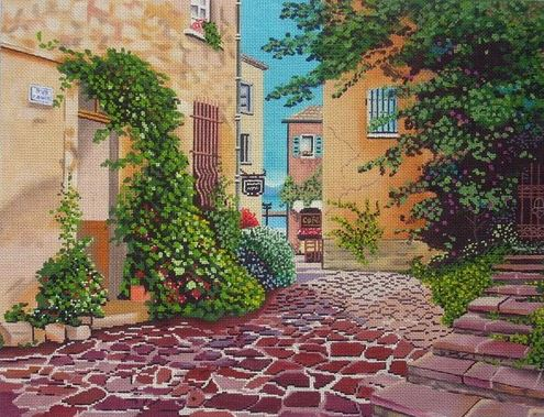 click here to view larger image of Rue Anette (hand painted canvases)