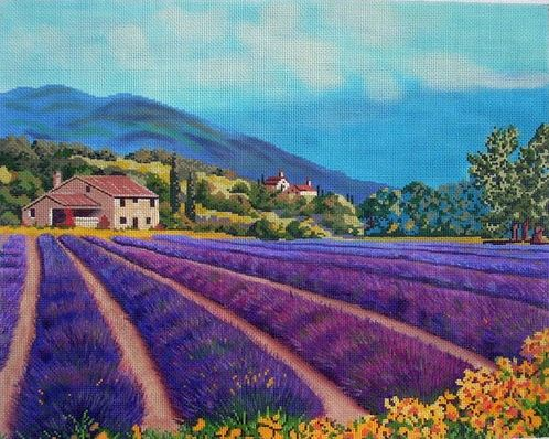click here to view larger image of Fields of Lavender (hand painted canvases)