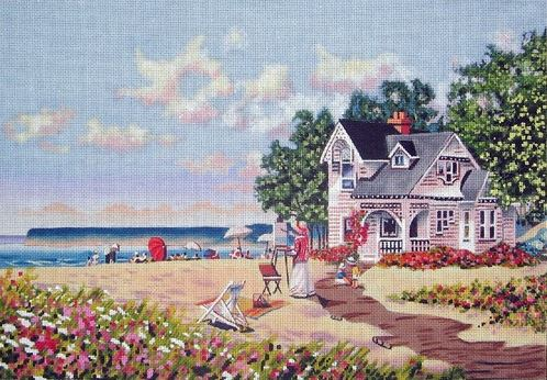 click here to view larger image of Beach Days (hand painted canvases)