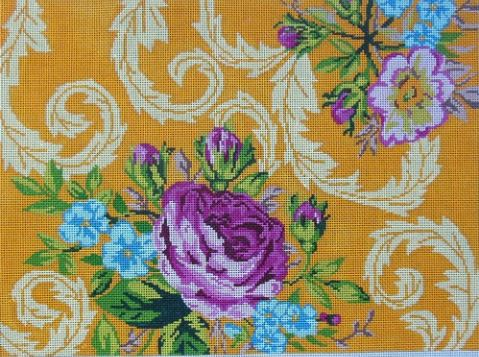 click here to view larger image of Victorian Rose (hand painted canvases)