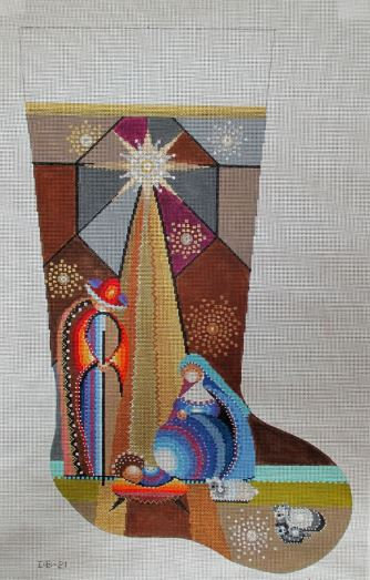 click here to view larger image of Holy Family Stocking (hand painted canvases)