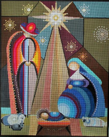 click here to view larger image of Holy Family  (hand painted canvases)