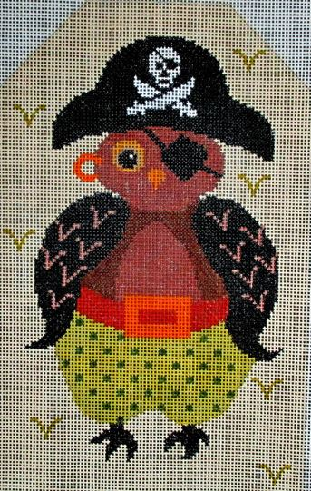 click here to view larger image of Boo Whoo Pirate Owl (hand painted canvases)