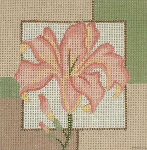 click here to view larger image of Day Lily (hand painted canvases)