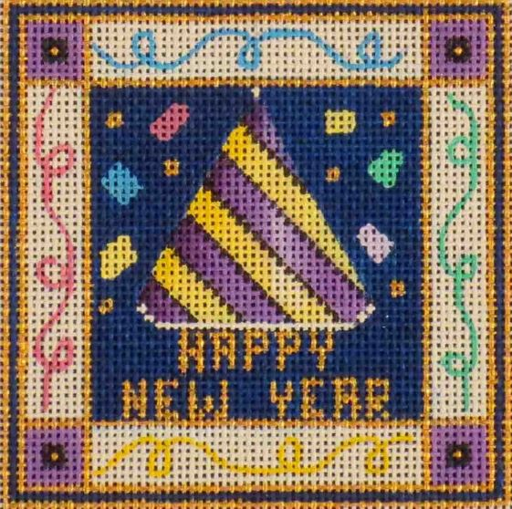 click here to view larger image of Happy New Year (hand painted canvases)
