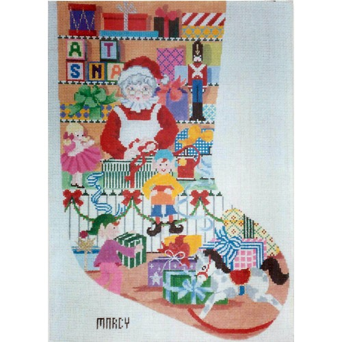 click here to view larger image of Mrs Claus Stocking (hand painted canvases)