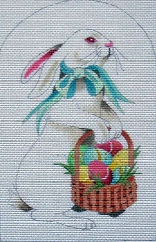 click here to view larger image of Bunny w/Eggs  (hand painted canvases)