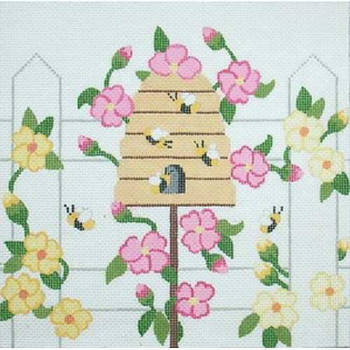 click here to view larger image of Beehive Birdhouse (hand painted canvases)