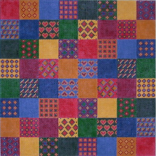 click here to view larger image of American Patchwork  (hand painted canvases)