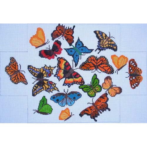 click here to view larger image of Butterflies Brick Cover (hand painted canvases)