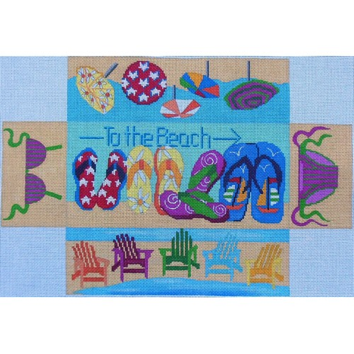 click here to view larger image of Beach Brick Cover (hand painted canvases)
