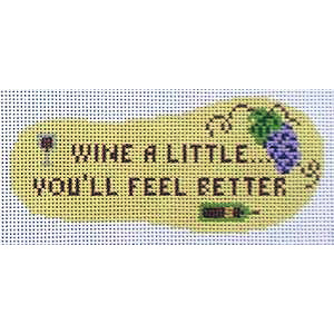click here to view larger image of Flip Flop - Wine a Little You'll Feel Better  (hand painted canvases)