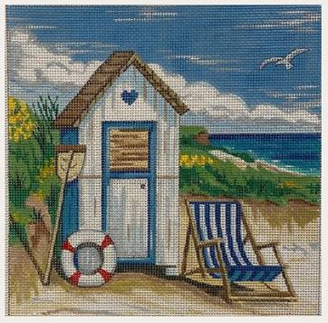 click here to view larger image of Beach Hut (hand painted canvases)
