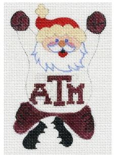click here to view larger image of Cheering Santa - Texas A & M (hand painted canvases)