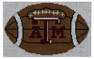 click here to view larger image of Football - Texas A & M  (hand painted canvases)