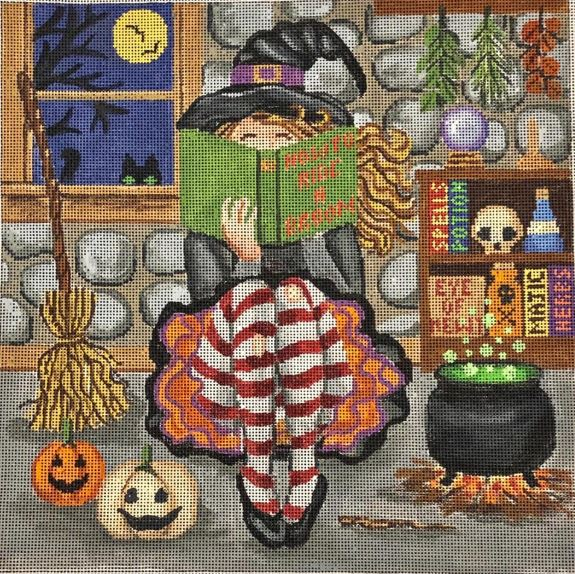 click here to view larger image of Halloween Girl (hand painted canvases)