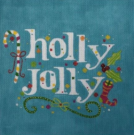 click here to view larger image of Holly Jolly (hand painted canvases)