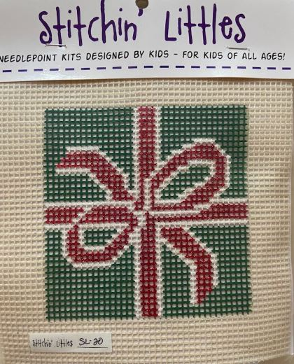 click here to view larger image of Stitchin' Littles - Green Gift (needlepoint kits)