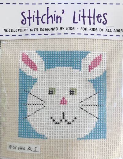 click here to view larger image of Stitchin' Littles - Funny Bunny (needlepoint kits)