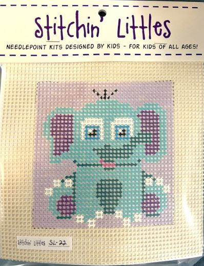 click here to view larger image of Stitchin' Littles - Ellie Elephant (needlepoint kits)