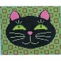 click here to view larger image of Black Cat - Small (hand painted canvases)