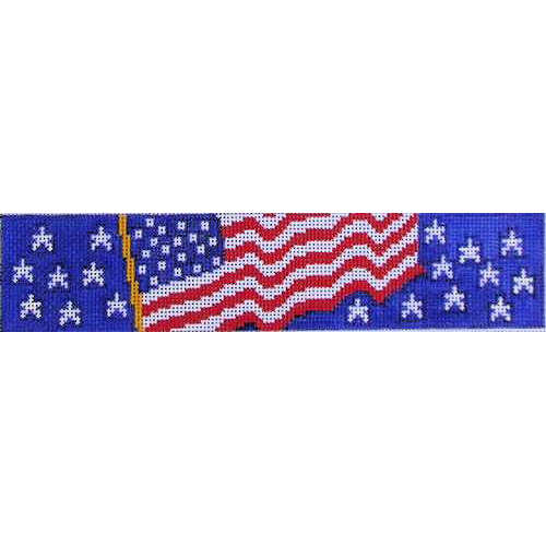 click here to view larger image of Bookweight - American Flag (hand painted canvases)