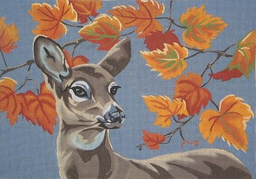 click here to view larger image of Autumn Doe (hand painted canvases)
