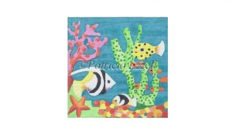 click here to view larger image of Under the Sea (hand painted canvases)