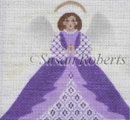 click here to view larger image of Angel 6 Tissue Roll Ornament    (hand painted canvases)